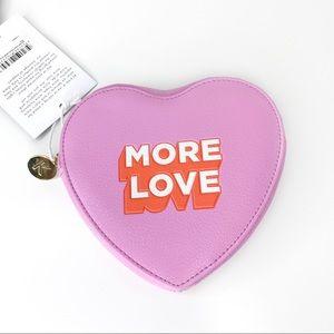 Kikki K Leather Heart Pouch Coin Purse Love LGBTQI